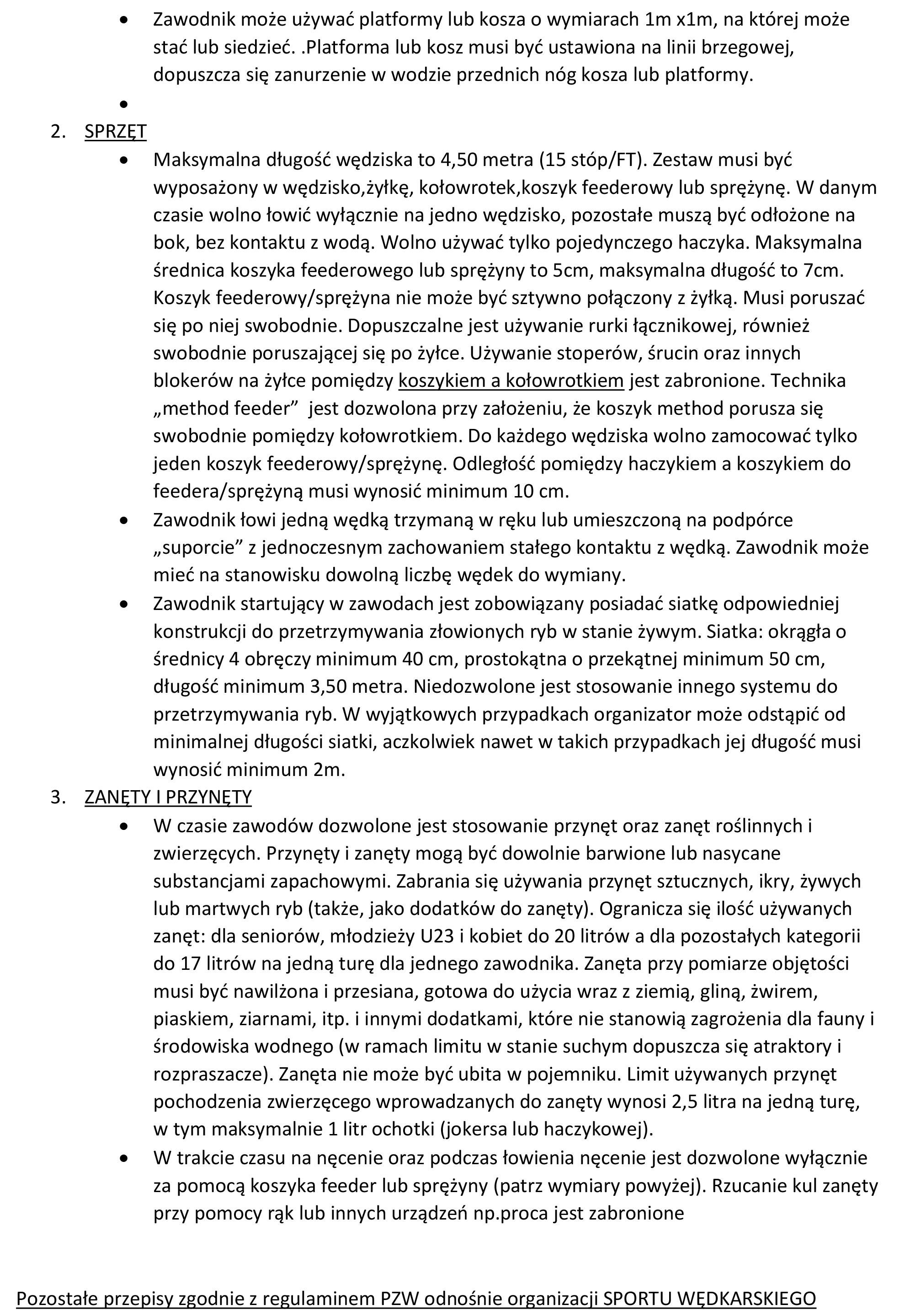 Regulamin zawodów 2017